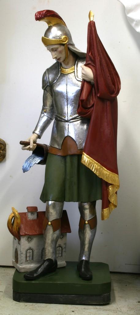 Hl. Florian nach der Restaurierung