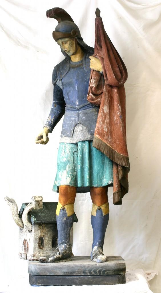 Hl. Florian vor der Restaurierung
