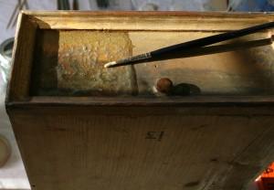 Abnahme des Oberflächenschmutzes mit Gel auf wässriger Basis
